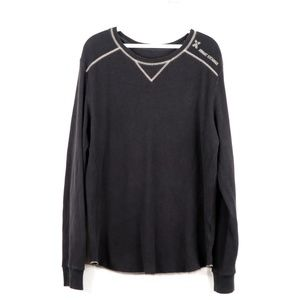 Armani Exchange Spell Out Waffle Knit Sweater